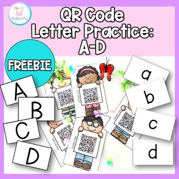 Distance Learning Letter Practice : QR Scanning Interactive Freebie