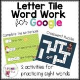 Distance Learning: Letter Tile Word Work
