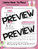 Distance Learning Accidentals Worksheets {Llama Hear Ya Play!}