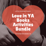 Distance Learning Love in YA Books Activities Bundle