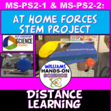 Distance Learning MS-PS2-1 MS-PS2-2 STEM 5E NGSS Balloon Cars At Home Project