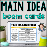 Main Idea Passages & Questions | Distance Learning BOOM CARDS™