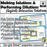 Distance Learning: Making Solutions and Dilutions {Digital
