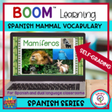 Spanish Mammal Vocabulary Boom Cards for Distance Learning