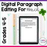 Distance Learning March Writing: Digital Paragraph Editing