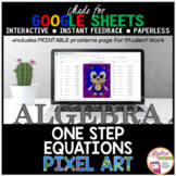 Google Sheets Digital Pixel Art Math Solving One Step Equations