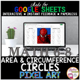 Distance Learning Math Area and Circumference of Circles P