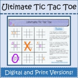 Distance Learning Math Game Seminar Ultimate Tic Tac Toe G