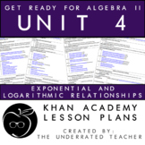 Get Ready for Algebra 2 Lesson Math Plans + Exponential Lo