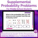 Supplemental Probability Problems
