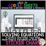 Google Sheets Math Solving Equations STICKER CHART