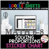 Google Sheets Math Solving Proportions STICKER CHART