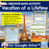 Distance Learning Math Vacation Activity