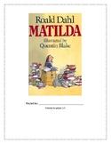 Distance Learning Matilda Novel Study