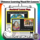 Distance Learning Meaning of Names Visual Art Lesson Plan