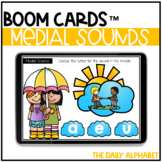 Distance Learning    Medial Sounds BOOM CARDS