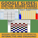 Distance Learning Meet/Zoom: Collaboration Game Boards: 3 Board Games Included!
