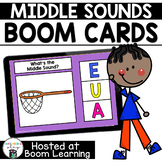 Distance Learning -  Middle (Medial) Sounds  Boom Cards Boom Deck