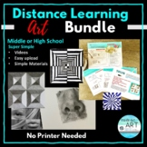 Distance Learning: Middle or High School Art Bundle