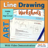 Contour Line Drawing Worksheets Middle or High School Art