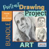 Self Portrait Drawing Middle or High School Art Bundle Dis