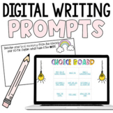 Distance Learning Monthly Digital Writing Prompts   Google Slides