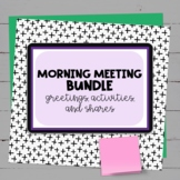 Distance Learning: Morning Meeting Activities GROWING Bundle