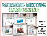 Distance Learning: Morning Meeting Games Zoom or Remote Vi