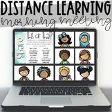 Distance Learning Digital Morning Meeting - Zoom, Google Meet