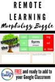 Distance Learning Morphology Boggle