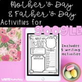 Distance Learning- Mother's Day Writing Activities for Google Drive
