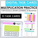 Multiplication Digital Task Cards   Boom Cards   for Googl