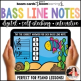 Distance Learning Music BOOM Cards: Bass Clef Line Notes 1