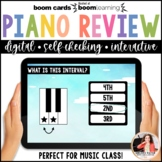 Distance Learning Music BOOM Cards: Beginning Piano Review