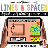 Music Distance Learning BOOM Cards: Lines & Spaces