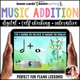 Music Distance Learning BOOM Cards: Music Math Addition