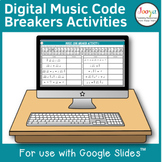 Distance Learning Music Code Breaker Activities for use wi