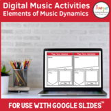 Distance Learning | Music Dynamics Activities for use with