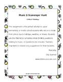 Distance Learning Music E-Scavenger Hunt -Critical Thinking-