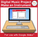 Distance Learning Music Project for use with Google Slides