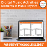 Distance Learning | Music Rhythm Activities for use with G