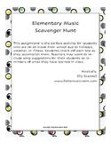 Distance Learning Music Scavenger Hunt