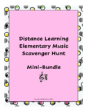Distance Learning Music Scavenger Hunt Mini-Bundle