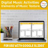 Distance Learning | Music Texture Activities for use with