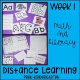 Distance Learning Week 1 Preschool- Kindergarten of Litera