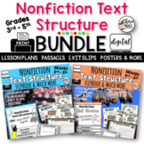 Distance Learning Nonfiction Text Structure BUNDLE RI3.8 R