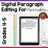 Distance Learning November Writing: Digital Paragraph Edit