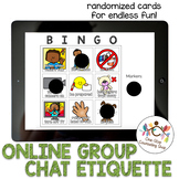 Distance Learning & Online Group Chat Etiquette Bingo