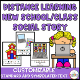 Distance Learning Online New School or Class Social Story