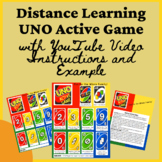 Distance Learning PE UNO Active Game For Families to be Ac